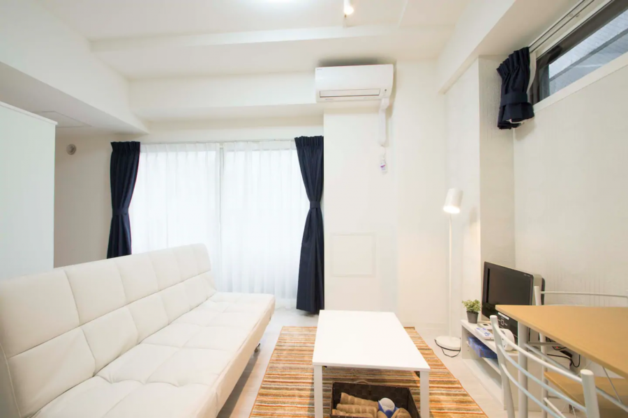 2LDK Apartment to Rent in Sapporo-shi Chuo-ku Living Room