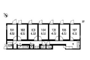 Private Serviced Apartment to Rent in Suginami-ku Floorplan