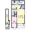 1LDK Apartment to Rent in Machida-shi Floorplan