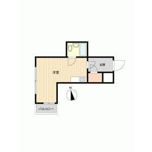 1R {building type} in Minamiotsuka - Toshima-ku Floorplan