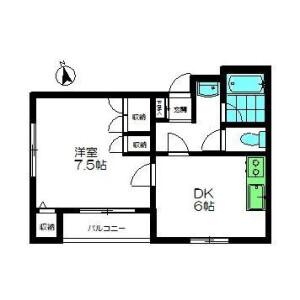 1DK Mansion in Higashinakanobu - Shinagawa-ku Floorplan