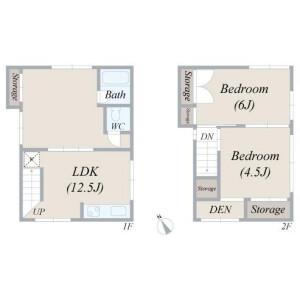 2LDK House in Honkomagome - Bunkyo-ku Floorplan