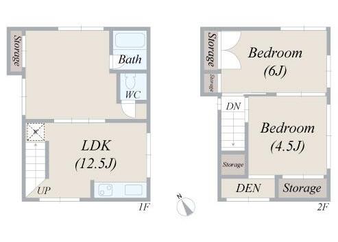 2LDK House to Rent in Bunkyo-ku Floorplan
