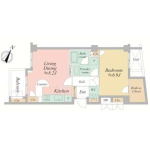 1LDK Mansion in Kamiuma - Setagaya-ku Floorplan