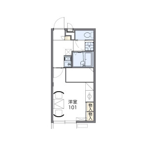 1K Apartment in Hommachi - Shibuya-ku Floorplan