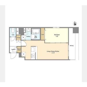 1LDK Mansion in Taito - Taito-ku Floorplan