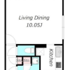 在目黒区内租赁1LDK 公寓大厦 的 楼层布局