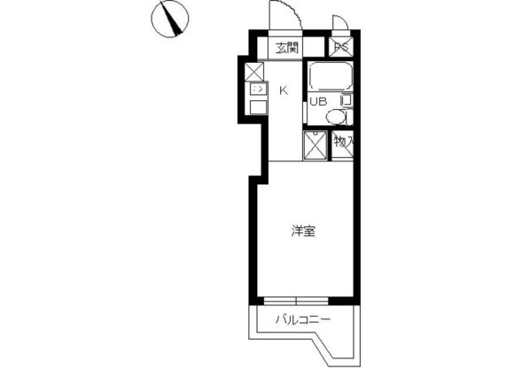1R Apartment to Rent in Yokohama-shi Kohoku-ku Floorplan