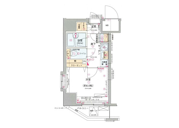 1K マンション 文京区 間取り