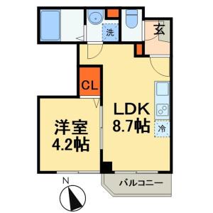 1DK Mansion in Hongyotoku - Ichikawa-shi Floorplan