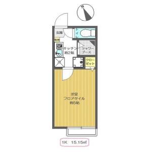 1K Apartment in Minamiikebukuro - Toshima-ku Floorplan