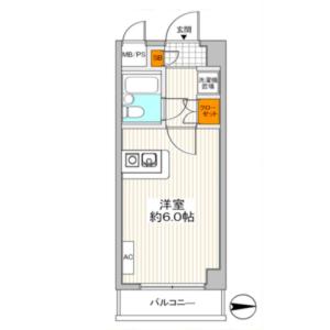 1R {building type} in Nakamurakita - Nerima-ku Floorplan