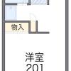 在府中市内租赁1K 公寓 的 楼层布局