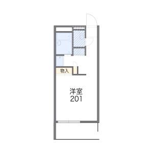 府中市西府町-1K公寓 楼层布局
