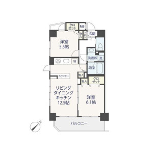 2LDK {building type} in Ebara - Shinagawa-ku Floorplan