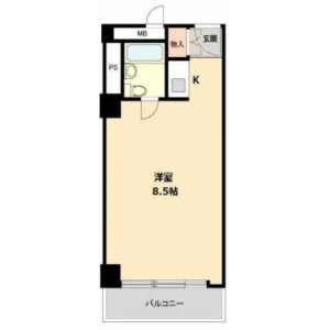1R Mansion in Kabukicho - Shinjuku-ku Floorplan