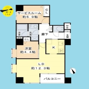目黒区下目黒-1SLDK{building type} 楼层布局