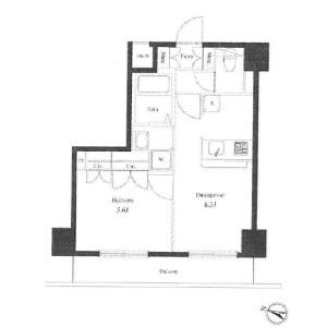 1DK Mansion in Honan - Suginami-ku Floorplan
