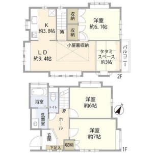 3LDK House in Tsurumaki - Setagaya-ku Floorplan