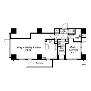 港区西新橋-1LDK公寓 楼层布局