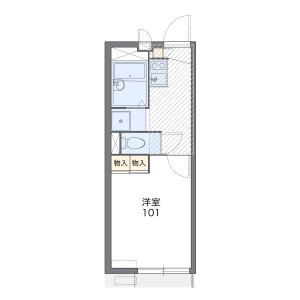 1K Apartment in Sakusabecho - Chiba-shi Inage-ku Floorplan