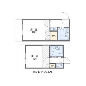 1K Apartment in Saiwaicho - Asaka-shi Floorplan