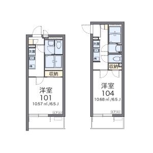 1K Apartment in Kitabukurocho - Saitama-shi Omiya-ku Floorplan
