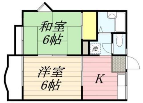 2DK Apartment to Rent in Katsushika-ku Floorplan