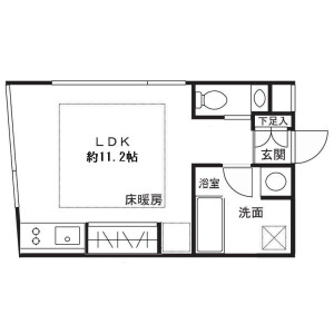 1R Mansion in Mizonokuchi - Kawasaki-shi Takatsu-ku Floorplan