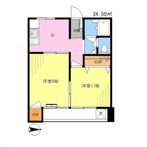 2K Mansion in Nakaitabashi - Itabashi-ku Floorplan