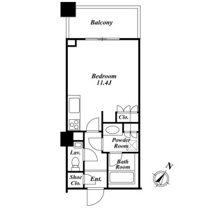 1R Mansion in Sarugakucho - Shibuya-ku Floorplan