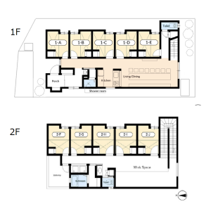 International Share House/Flat Bolero Jodoji - Guest House in Kyoto-shi Sakyo-ku Floorplan
