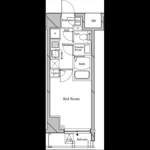 1K Mansion in Shirotaecho - Yokohama-shi Minami-ku Floorplan