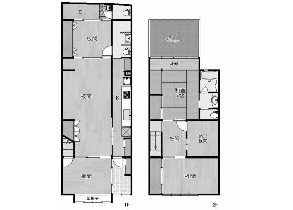 6SK House to Buy in Kyoto-shi Shimogyo-ku Floorplan