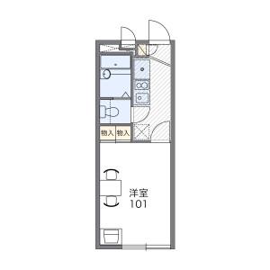 1K Apartment in Jindaijihigashimachi - Chofu-shi Floorplan