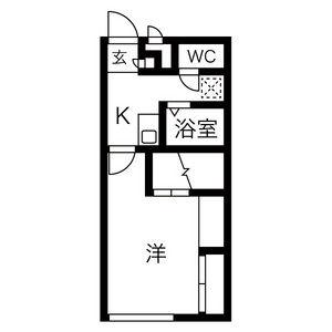 常滑市小倉町-1K公寓 房間格局