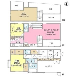 2SLDK House in Ishikawacho - Ota-ku Floorplan