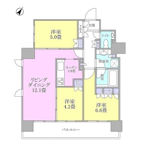3LDK {building type} in Roppongi - Minato-ku Floorplan