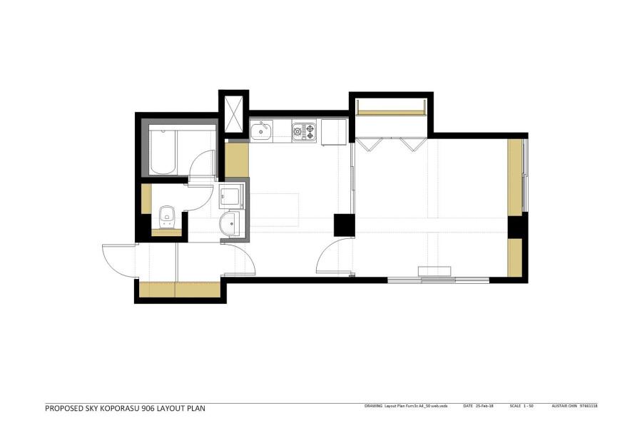 1LDK Apartment to Buy in Sapporo-shi Chuo-ku Floorplan