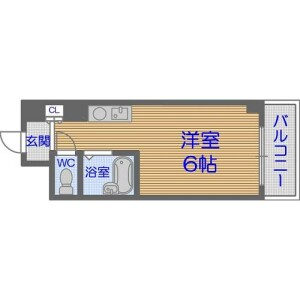 1R Apartment in Tamatsu - Osaka-shi Higashinari-ku Floorplan