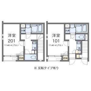 1K Apartment in Maidashi - Fukuoka-shi Higashi-ku Floorplan