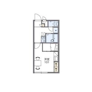 1K Apartment in Sagadaikakujimonzen hakkencho - Kyoto-shi Ukyo-ku Floorplan