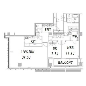 2LDK Apartment in Akasaka - Minato-ku Floorplan