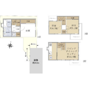2LDK {building type} in Haramachi - Shinjuku-ku Floorplan