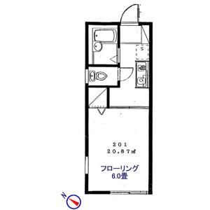 1K Apartment in Nakamura - Nerima-ku Floorplan