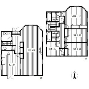 4LDK House in Kifune - Nagoya-shi Meito-ku Floorplan