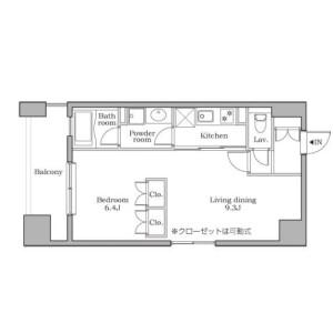 1K Apartment in Shibadaimon - Minato-ku Floorplan