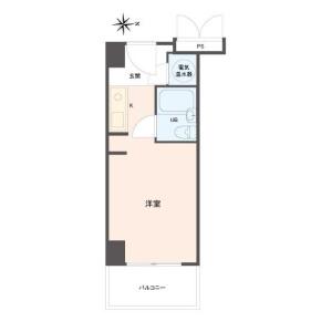 1R Apartment in Wakinohamacho - Kobe-shi Chuo-ku Floorplan