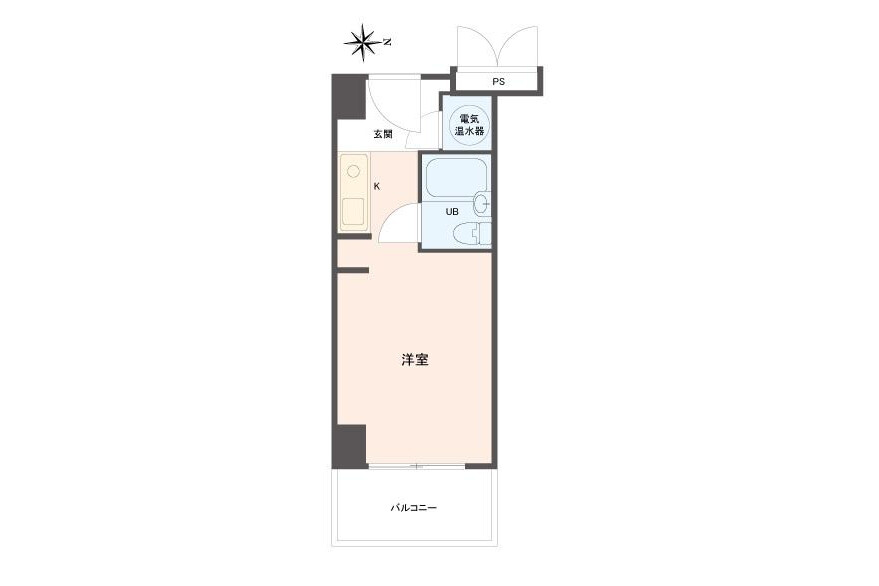1R Apartment to Buy in Kobe-shi Chuo-ku Floorplan