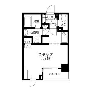 1R Mansion in Kandajimbocho - Chiyoda-ku Floorplan